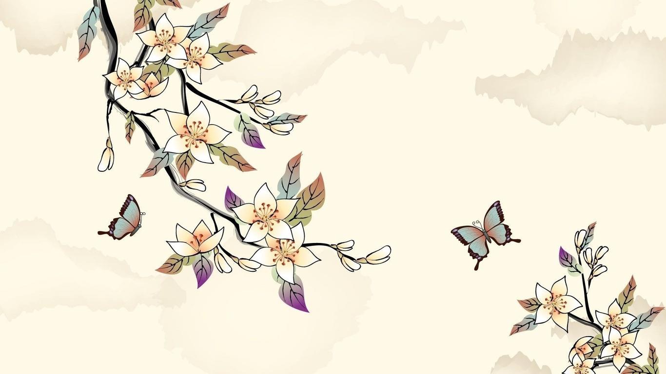 На обои рисунки цветы
